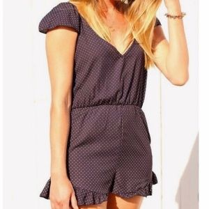 UO Pins & Needles Polka Dot Romper